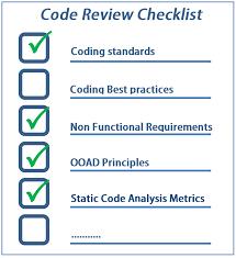 code review checklist u2013 to perform effective code reviews