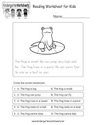 Beginner Reader Worksheets Reading Worksheets Kindergarten U0026 Grade Level Worksheets A
