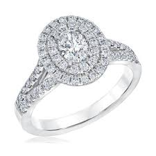 oval engagement ring with halo limited edition oval halo engagement ring 1ctw