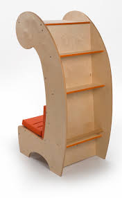 contemporary reading chair bookcase whitney bros