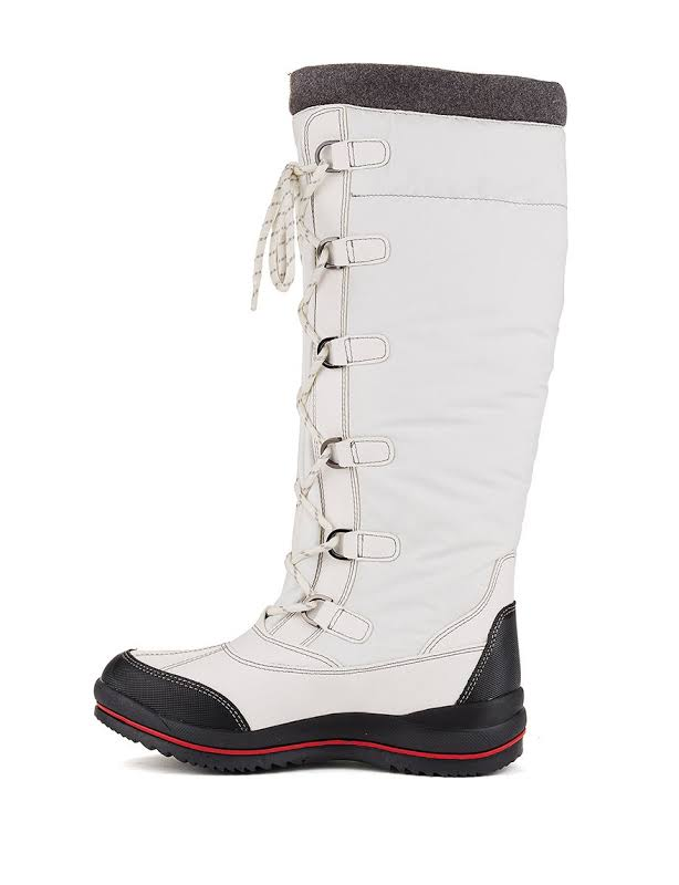 Cougar Canuck Waterproof Solid Snow Boots White 8 Medium (B,M)