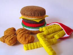 jeux de cuisine frite feutre alimentaire hamburger frites français pépites de poulet