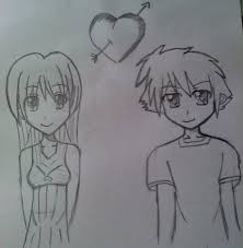 anime couple drawing by animelover4ever1997 on deviantart