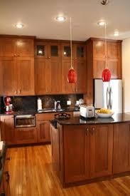 Kitchen Shaker Cabinets by Interesting Maple Shaker Kitchen Cabinets Storege 4 Zone Burner