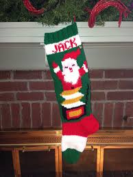 knit personalized santa vintage in