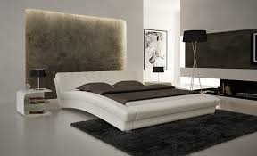 Contemporary Platform Bed White Hd Contemporary Platform Bed Cp B1112 Wh
