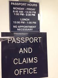 hours for applying for a passport at the post office off of