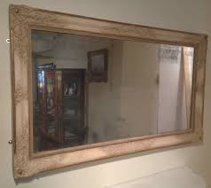 Large Decorative Mirrors Large French Carved Gesso Mirror With Ivory And Gilt Decoration