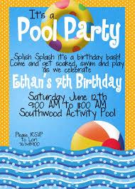 pool party invitation wording marialonghi com