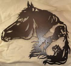 horse with horse scene metal wall art home decor ebay metal art horse with horse scene metal wall art home decor ebay