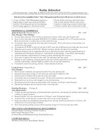 retail manager resume resume sles for managers luxury department manager sle