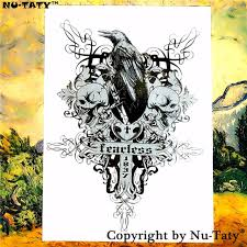 nu taty skull cross temporary flash