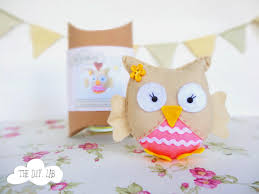 felt owl craft kit diy craft kit craft kit felt sewing kit