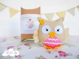 felt owl craft kit diy craft kit craft kit felt sewing kit