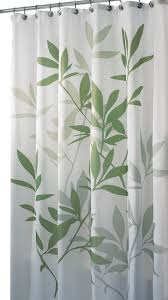 Shower Curtain Green Interdesign Green Leaves Poly Shower Curtain Contemporary