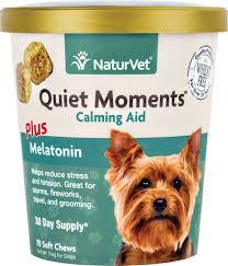 naturvet quiet moments calming aid dog soft chews 70 count