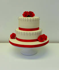 two tier wedding cake with red roses weddings archives page of