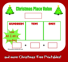 free christmas tree place value worksheet and more blessed