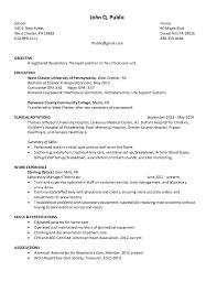sample resume for respiratory therapist gallery creawizard com