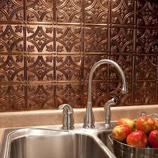 Kitchen Backsplash Tin Kitchen With Copper Tin Faux Backsplash Kitchen Faux