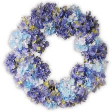 hydrangea wreath national tree company 25 in garden accents blue hydrangea wreath