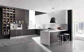 Urban Design Kitchens - black white modern kitchen minimalist urban style kitchen