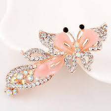 hairpin clip 1pc rhinestone butterfly hair comb hairpin clip barrette