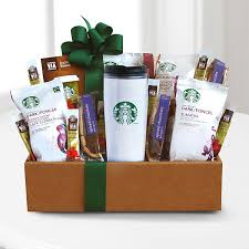 coffee baskets starbucks get up go box gift basket delivery