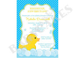 incredible duck theme baby shower invitations around efficient