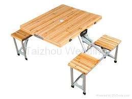 folding wood picnic table facil furniture