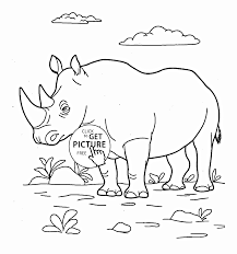rhinoceros coloring page for kids animal coloring pages
