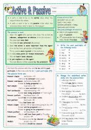 english exercises 4 exercises passive voice all tenses