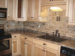 large glass tile backsplash kitchen modern white kitchens dark floors cabinets granite countertops