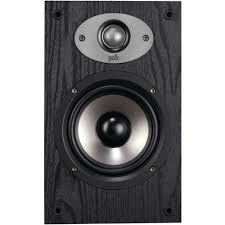 Bookshelf Audio Speakers Polk Audio 5 1 4 In Bookshelf Speaker Black Am6115 A The Home