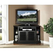 black corner tv cabinet with glass doors furniture large black painted hardwood tv cabinet decor with