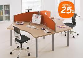 mobilier bureau open space bureaux compacts 120 symetriques ensemble de 3 postes