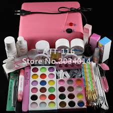 att 116 pro 36w uv dryer acrylic nail art set acrylic nail kit