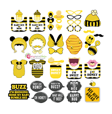 bumble bee baby shower 42 hilarious bumble bee baby shower photo booth props instant