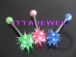 ball rubber rings images Wholesale 50pcs body piercing spiked koosh ball tongue rings new jpg