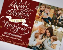 custom new year cards merry christmas and happy new year custom cards