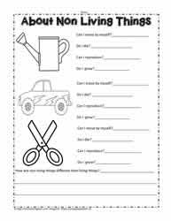 Characteristics Of Living Things Worksheet Middle Living And Non Living Things Worksheets Worksheets