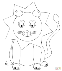 cute cartoon lion coloring page free printable coloring pages