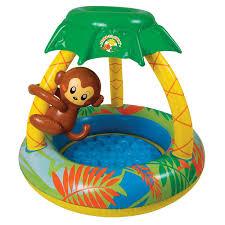 amazon com poolmaster 81610 learn to swim go bananas monkey pool