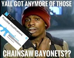 Chainsaw Meme - usa today uses ar 15 with chainsaw bayonet when talking about texas