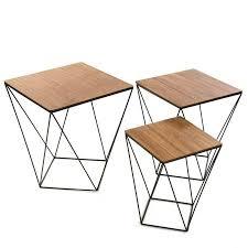 table bout de canap canape table bout de canape canapac racine teck et mactal 50cm avec