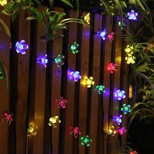 Fairy Lights Outdoor by Innoo Tech Outdoor Flower Garden Solar String Lights Multi Color