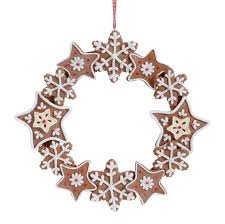 9 gingerbread wreath ornament