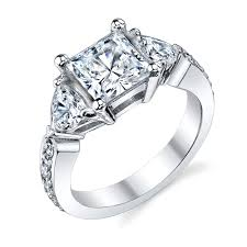 cz engagement ring cz engagement ring 00053 3 with pave cz engagement rings