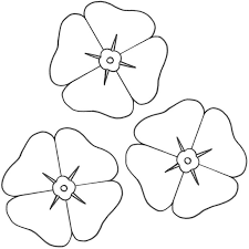 poppy outline clipart 41