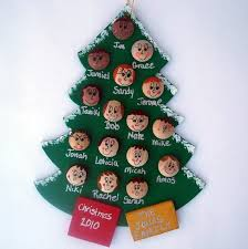 personalized family tree ornament up to 16 faces